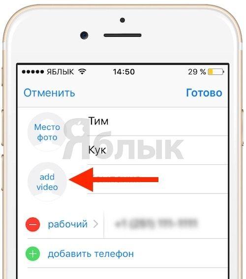 Твик LiveRinging - видеорингтон (видео при звонке) на iPhone