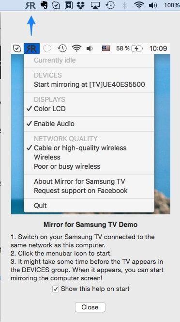 Как передать видео (фото, браузер) с Mac на телевизор Samsung Smart TV