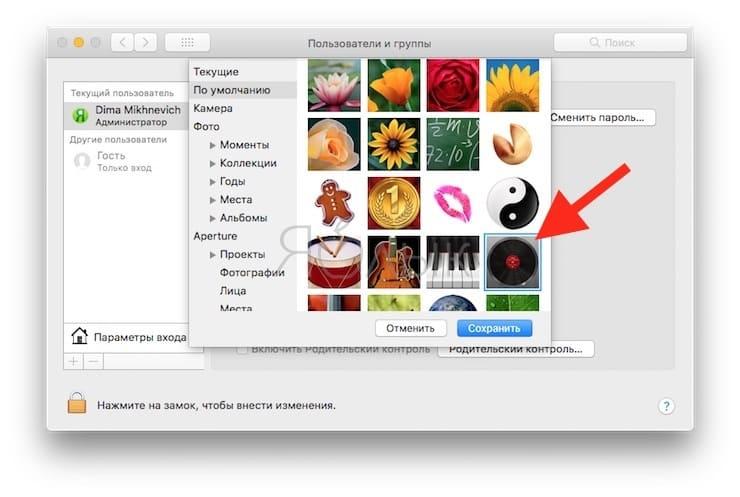 Автарка с пластинкой macOS