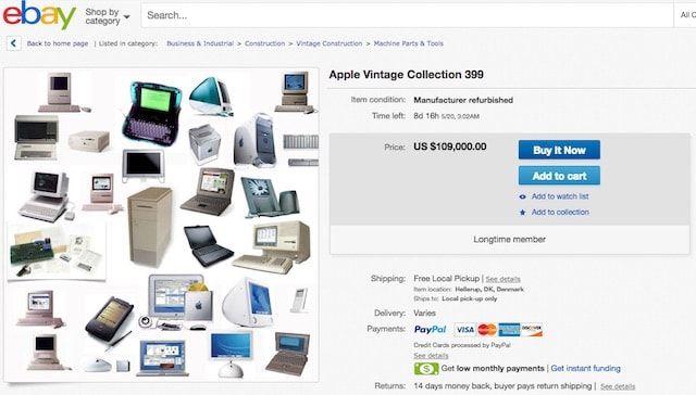 Коллекция из 399 компьютеров и других продуктов Apple