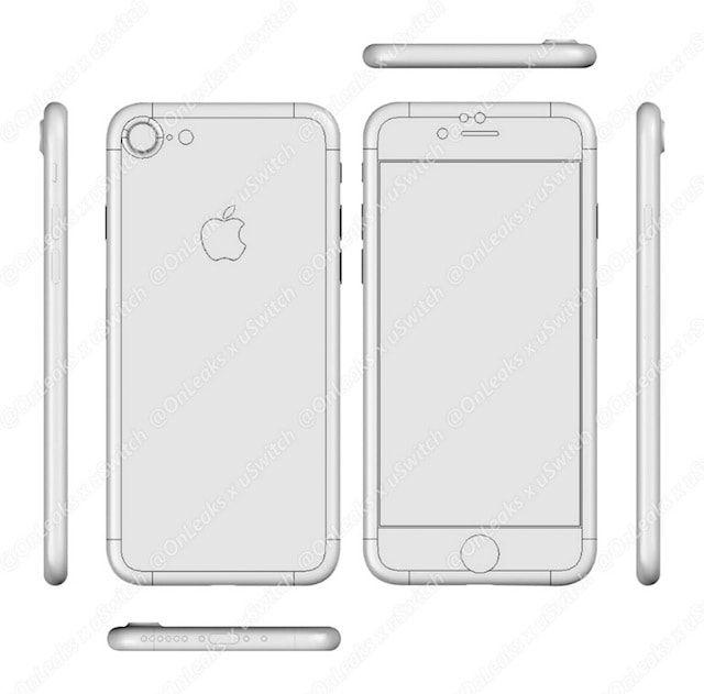 Новые чертежи iPhone 7 появились в Сети