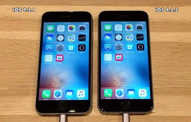 Сравнение скорости работы iPhone 4s, 5s, 6 и 6s на iOS 9.3.2 и iOS 9.3.1