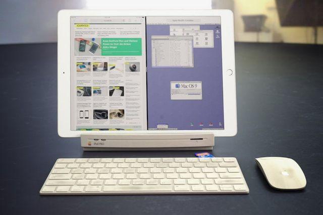 Концепт док-станции для iPad Pro в стиле Macintosh LC