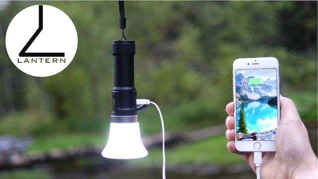 LANTERN - яркий водонепроницаемый фонарик с зарядкой для iPhone