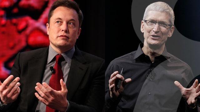 Тим Кук и Илон Маск