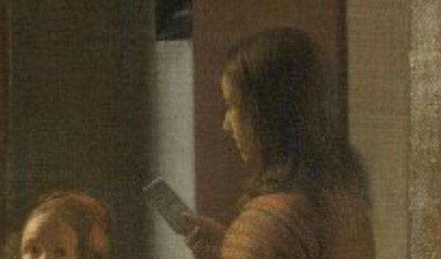 Картина Рембранта с iPhone