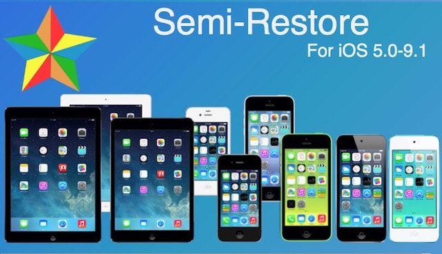 Semi-Restore - как прошить iPhone (iPad) с джейлбрейком на чистую iOS 9.0.2-iOS 9.1 с рабочей Cydia