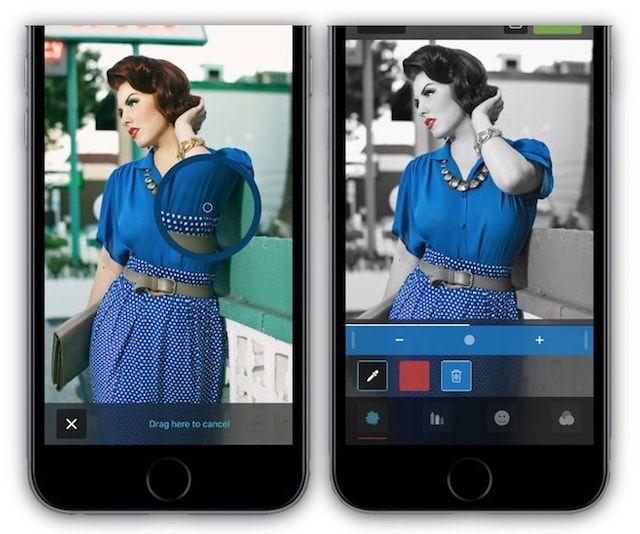 color accent - как изменять отдельные цвета на фото на черно белые в iPhone и iPad
