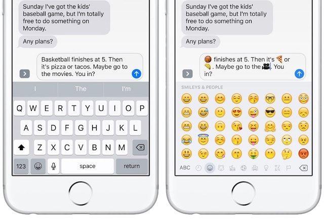 Эмодзи в iMessage на iOS 10