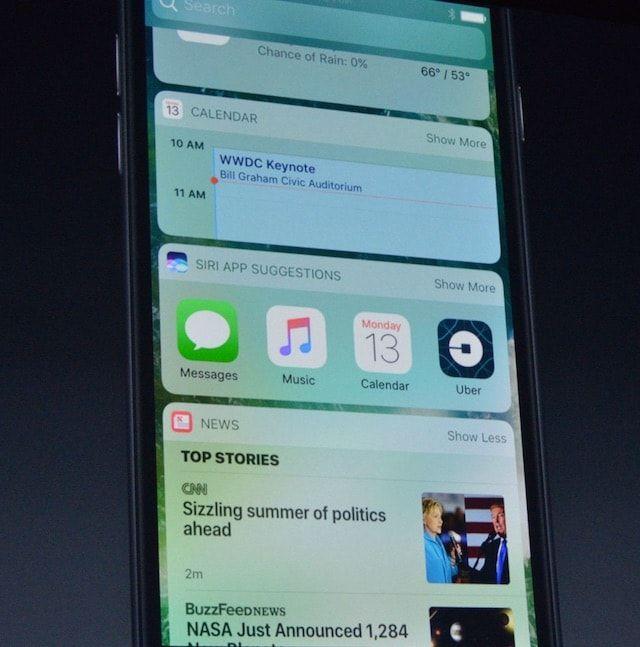 Виджеты на экране блокировки iOS 10