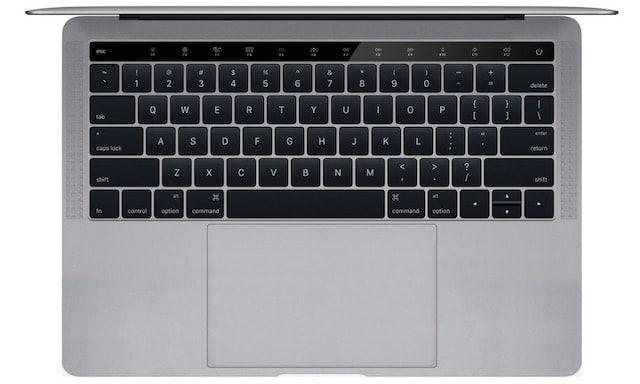новый macbook pro с OLED панелью