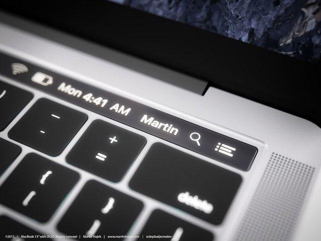 Концепт MacBook Pro с OLED-панелью от Мартина Хайека