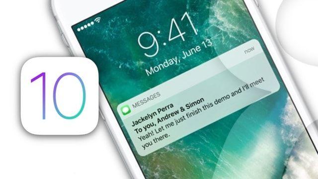 Apple: раскрываемые уведомления на экране блокировки в iOS 10