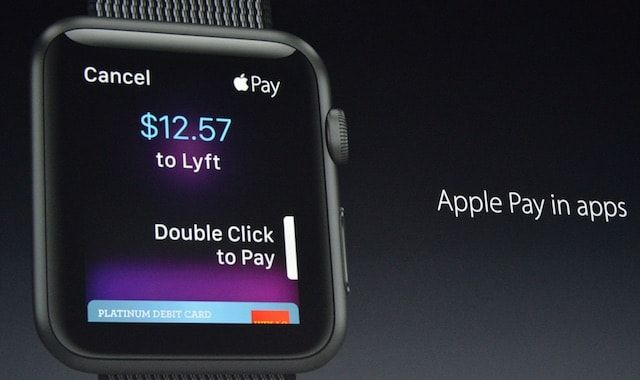 watchOS 3 apple pay