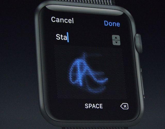 watchOS 3 - рукописный ввод на Apple Watch