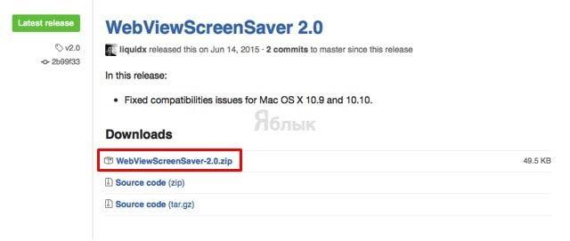 WebViewScreenSaver