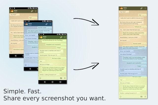 Как сделать скриншот длинной переписки одним файлом на Android