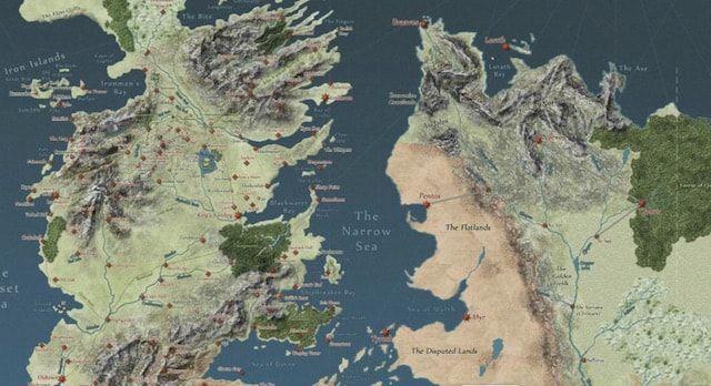 Игра престолов - карта