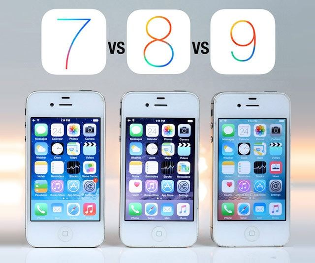 Сравнение скорости работы iOS 7, iOS 8 и iOS 9.3.3 на смартфонах iPhone 4s, iPhone 5 и iPhone 5s