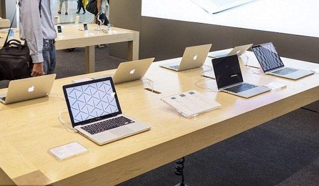 Демонстрационные MacBook в Apple Store