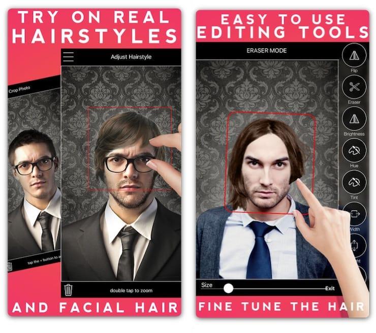 Men's Hairstyles - подбор мужских причесок, усов и бороды на iPhone и iPad
