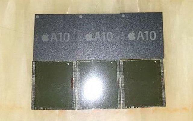 Фото процессора A10 для iPhone 7