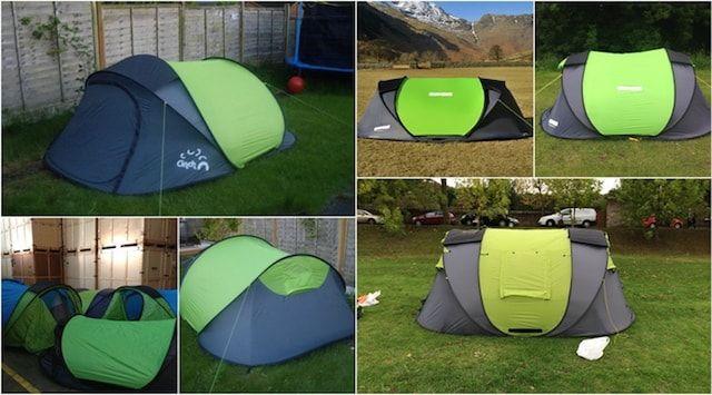 Cinch! - туристическая палатка с солнечной батареей и USB-портами. Время установки - 1 минута