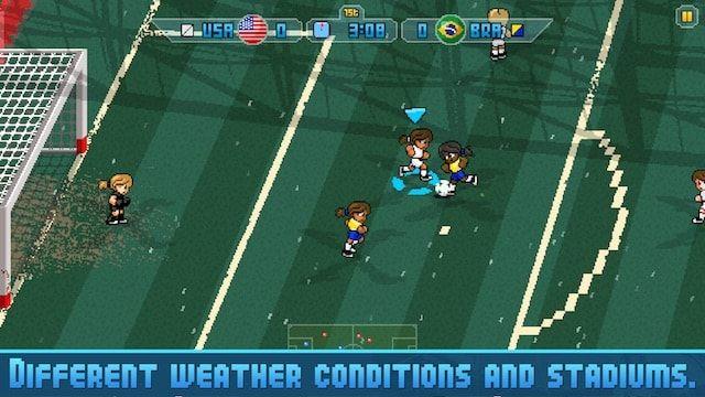 Футбольная игра с пиксельной ретро-графикой Pixel Cup Soccer 16 для iPhone и iPad