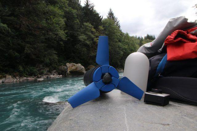 Estream - портативный генератор для iPhone и iPad, использующий энергию воды
