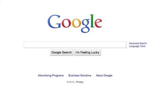Google избавился от синей рамки в 2010 году
