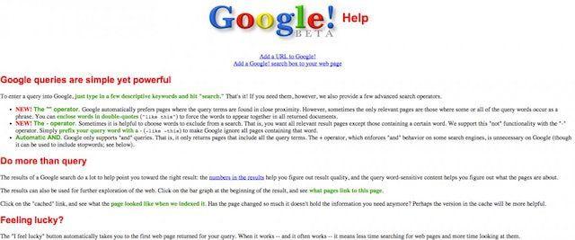 google help 1997