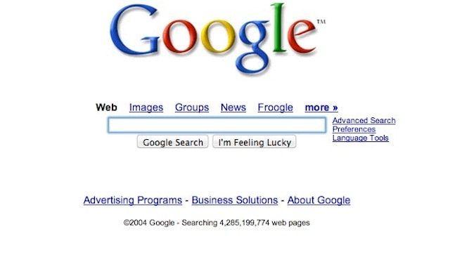 Google в 2004 году