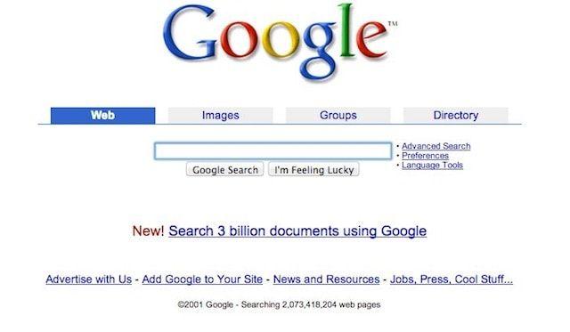Вкладки в поисковике Google