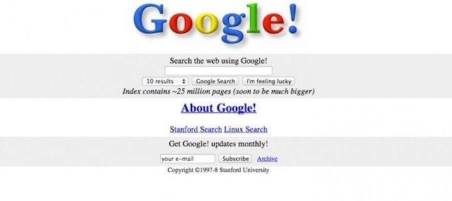 Google в 1997 году