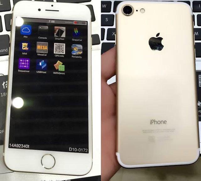 Фото и видео рабочего прототипа iPhone 7