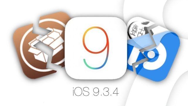 iOS 9.3.4 блокирует джейлбрейк