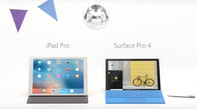 Microsoft высмеяла iPad Pro в новой рекламе Surface Pro 4