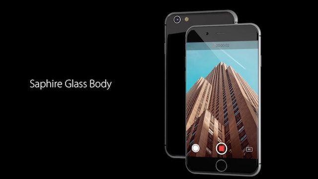 Концепт iPhone 8 с корпусом из сапфирового стекла и датчиком Touch ID (видео)