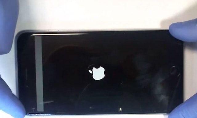 Появилась серая полоса на экране iPhone 6 и 6 Plus