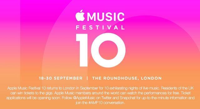 Apple анонсировала музыкальный фестиваль Apple Music 2016