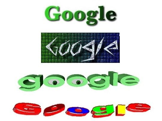 Old Google logos
