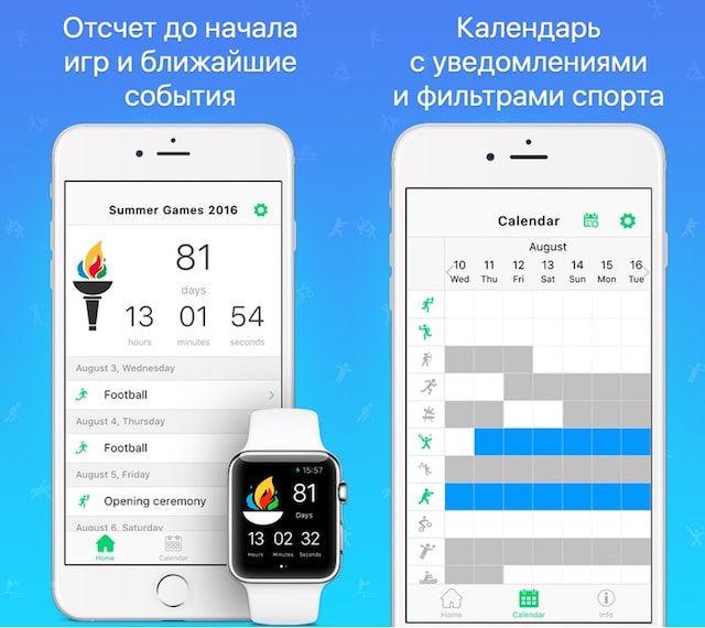 Summer Games 2016 на iPhone