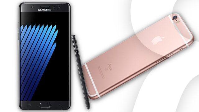 samsung galaxy note7 и iPhone 6s