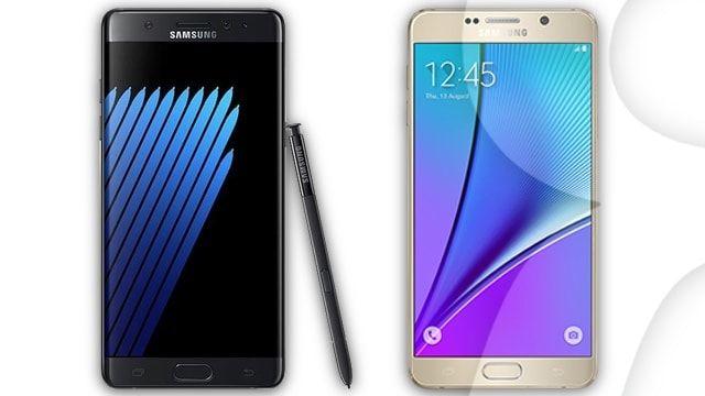 Samsung Note 5 против Samsung Note 7