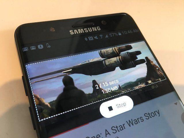 Создание Gif-анимации на Samsung Galaxy Note7