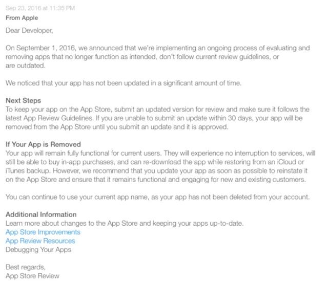 Apple запустила программу по удалению «зомби-приложений» из App Store