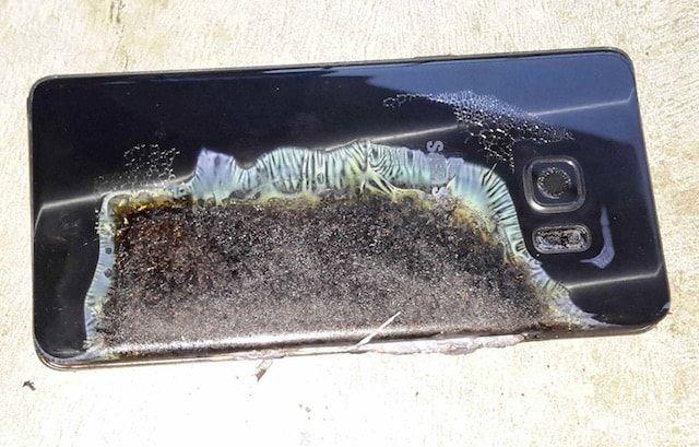 Взорвавшийся Samsung Galaxy Note 7