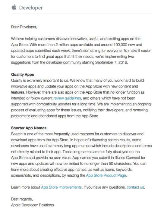 Apple проводит чистку App Store