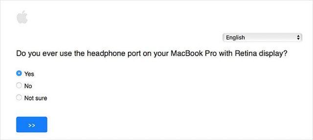 Опрос Apple: нужен ли в MacBook Pro разъем для наушников и другие порты