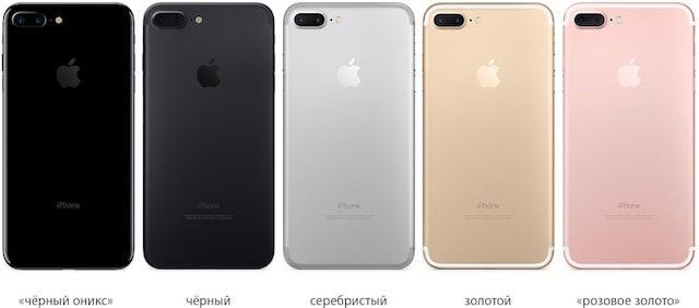 iphone 7 plus все цвета